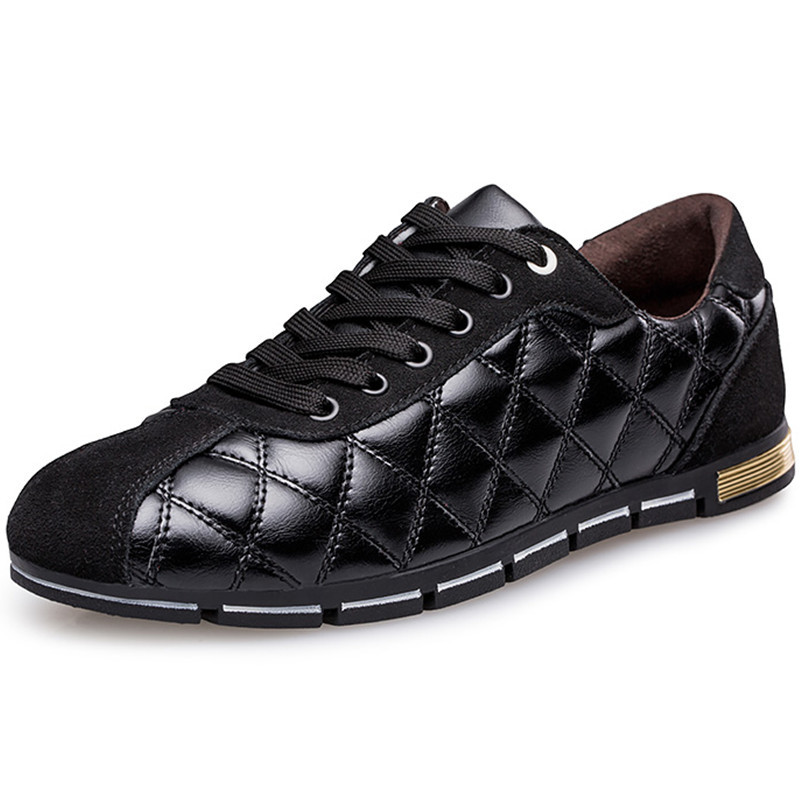 New 2015 Brand Sneakers For Men High Quality LeatherFlats Men Shoes Summer Casual Breathable Men Lace up Men Sneakers Blue Black