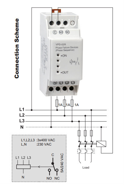 vpd 02r 3 phase failure relay sequence relay buy phase failurevpd 02r 3 phase failure relay sequence relay