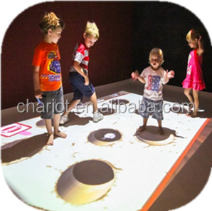 Promotion! chariot 3D games for kids interactive dance floor projection