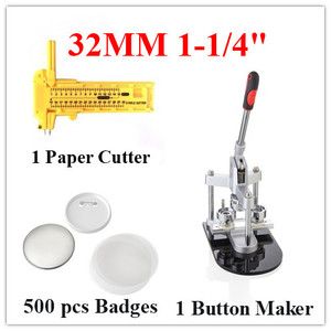 32MM badge button maker kit supplies with high quality 1002