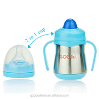 Good ieka 2 in 1 Thermos Stainless Steel Baby Feeding Bottle