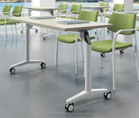 Steel Training Room Folding Study/Training Table in Steel from China market(QM-12)