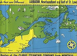 Clarke Steamship 1936 Labrador Newfoundland Brochure Deck Plans Fares Map
