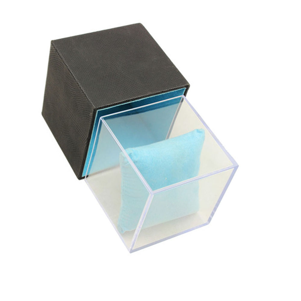 High Grade Luxury Acrylic And Matte Black Paper Watch Box