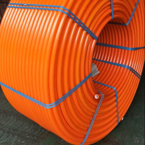 HDPE Conduit with internal longitudinal ribs
