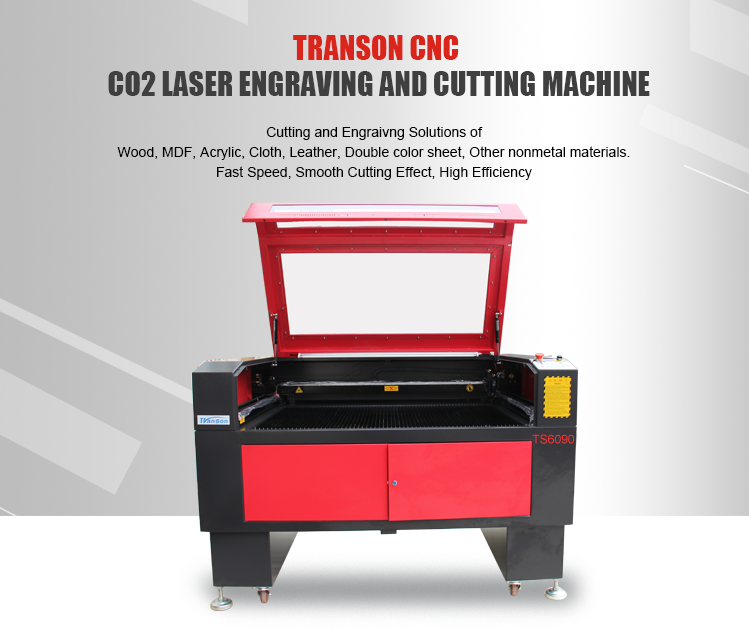 130W CO2 Laser Cutting Engraving Machine TS6090 with Reci W6 Tube  for non-metal wood paper acrylic leather plastic stone glass