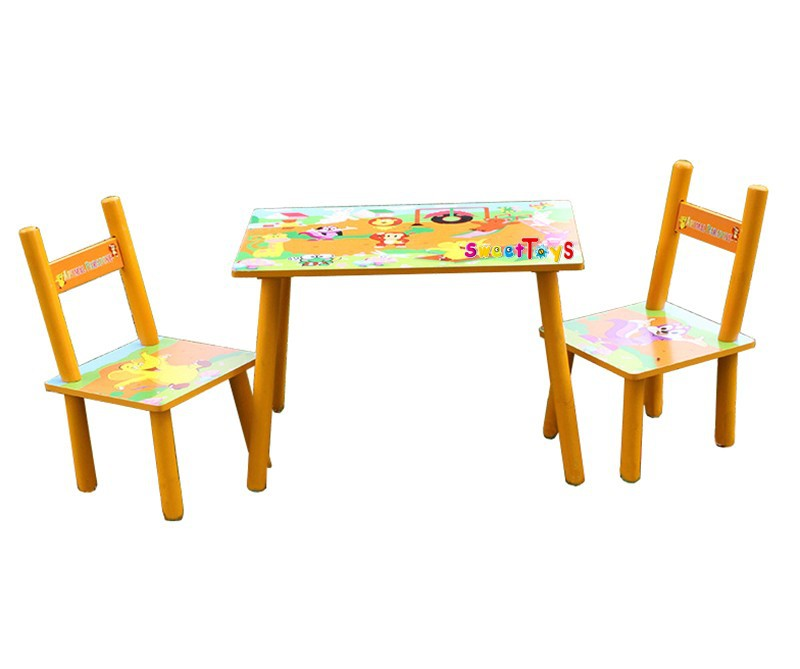 children's animal party wooden tables and chairs