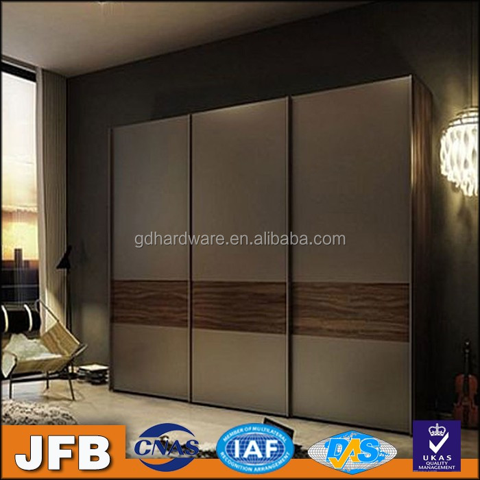 aluminum profile low price modern louvered sliding wardrobe door