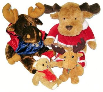 christmas moose stuffed and plush toys plush christmas toystuffed christmas animal toyplush - Christmas Plush Toys