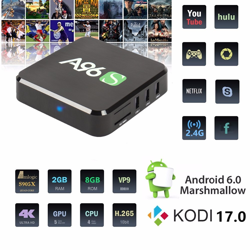 2016 Newest Google Android 6.0 Set Top <strong>Box</strong> 4K 2K Kodi Fully Loaded Quad Core 2gb 8gb <strong>Amlogic</strong> S905X <strong>TV</strong> <strong>Box</strong>