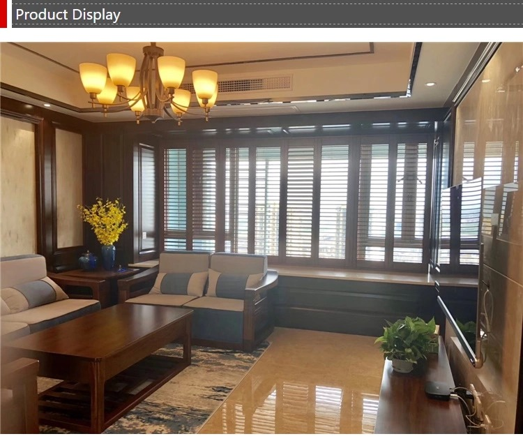 Factory Direct Wooden Sliding Plantation Shutter For Window
