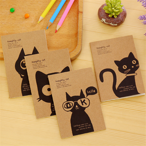 cute animal dog cat elastic school diary kids notebook