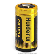 Factory sale Digital Camera Primary Li/MnO2 Battery 3 Volt Cr 123A Cr123A Cr17345 1500Mah 3V Photo Lithium Battery