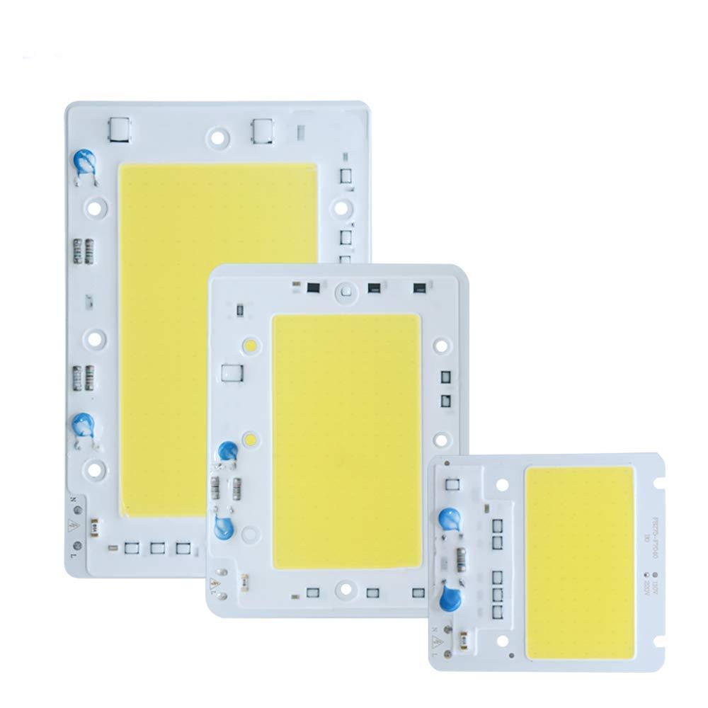 100W LED COB Chip Light Drive Free Cool White Lamp LED Chip Lighting Beads for DIY Spotlight Floodlight 6000K-6500K, AC110V