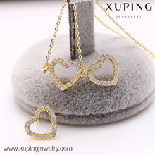 62207-xuping fashion 14k gold ladies wholesale costume heart jewelry sets for girls