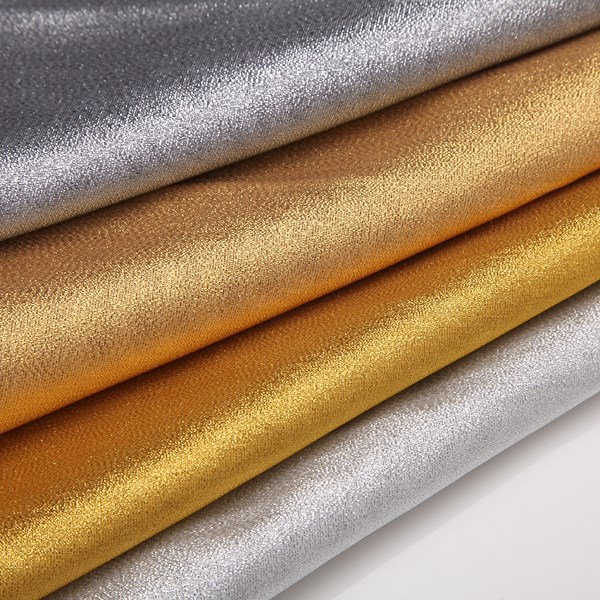 2015 gold Disco Lame Fabric for Lady Dresses 58""