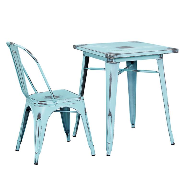 Gartenmöbel Vintage Style Solide Metall Steht Im Freien Metall Tisch Und  Stühle