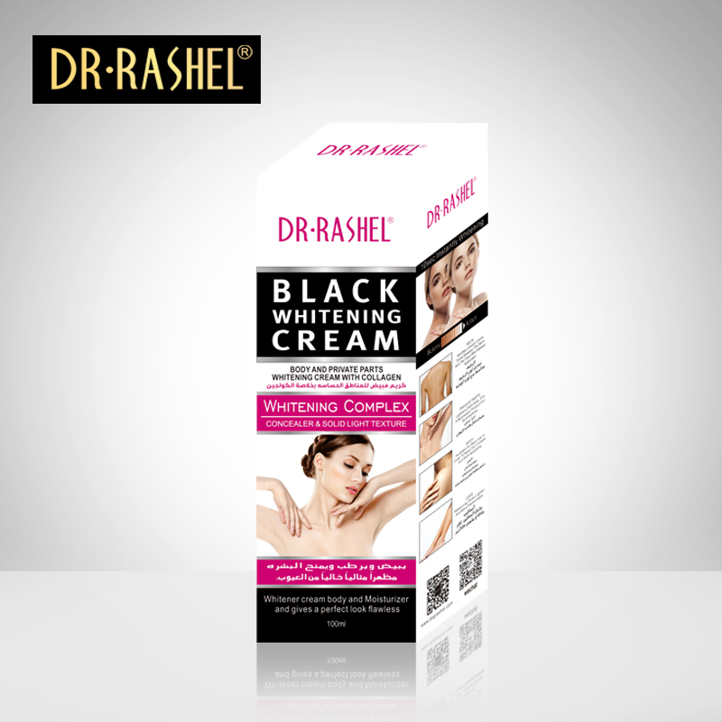 DR.RASHEL 100ml Collagen Body Private Part Black Moisturizing Whitening Cream