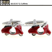 fashion mens cooper alloy motorcycle cufflinks