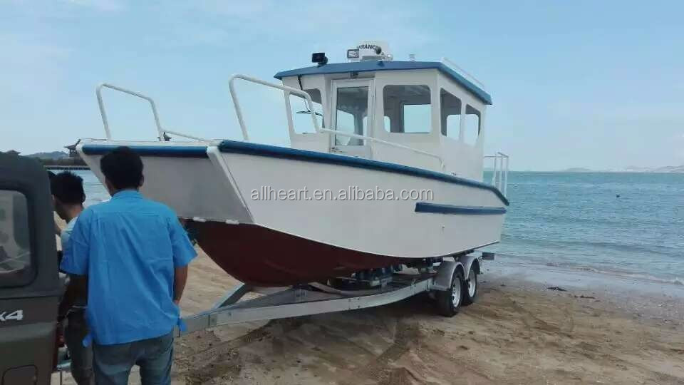 23ft~26ft aluminum landing boat with cabin for sale