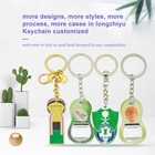 Longzhiyu 12years key chain manufacturer professional custom leather key chain