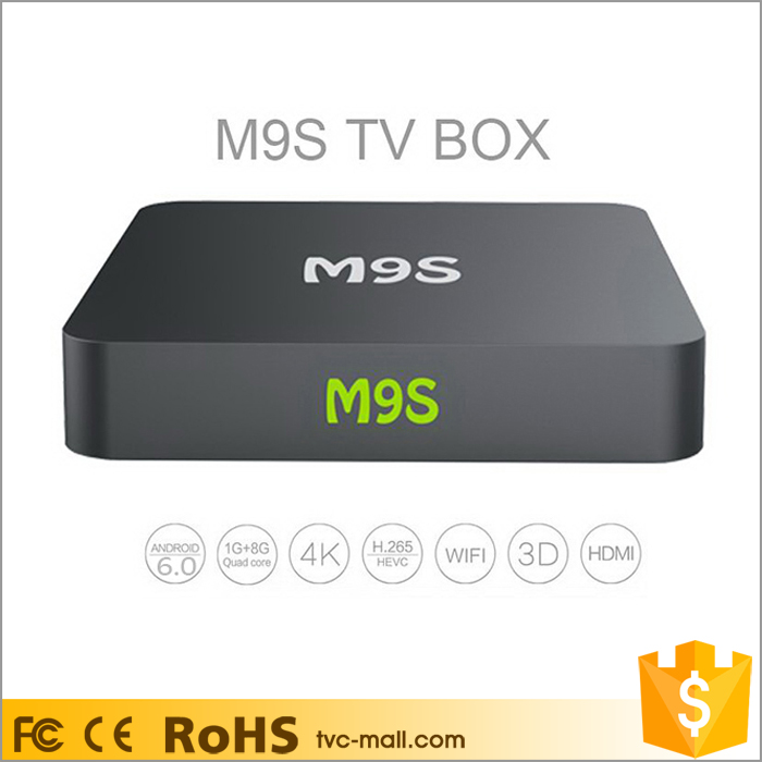 M9S X1 <strong>Android</strong> 6.0 Amlogic S905X <strong>TV</strong> <strong>Box</strong> Kodi 16.1 Quad Core WiFi 2.4G Streaming Media Player
