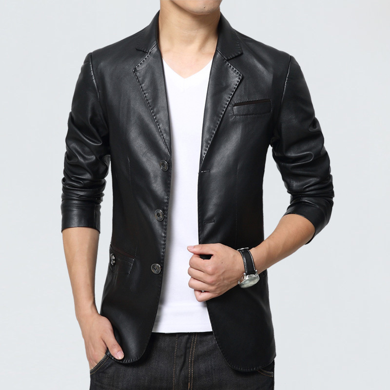 Leather suit jackets