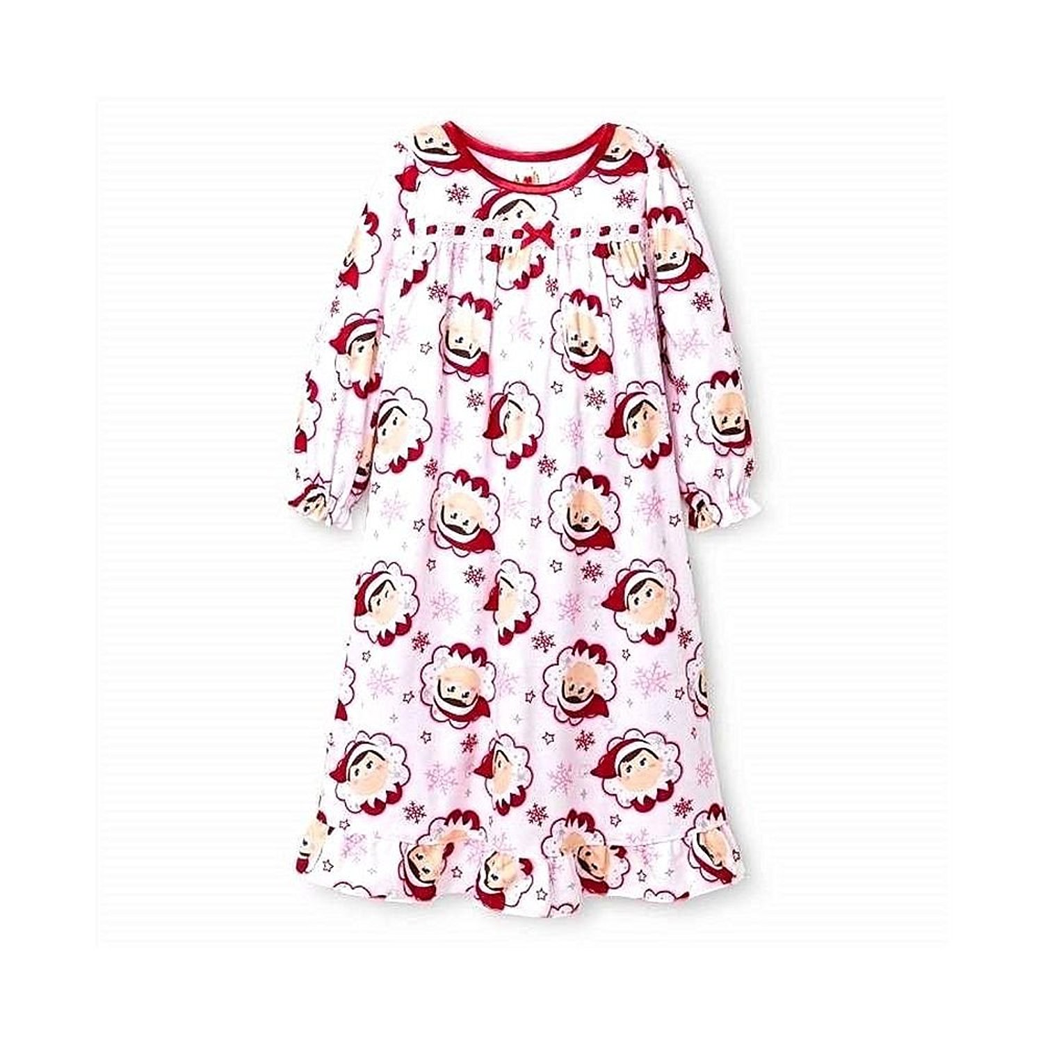 Toddler//Little Kid Elf on the Shelf Girls Flannel Granny Gown Nightgown Pajamas