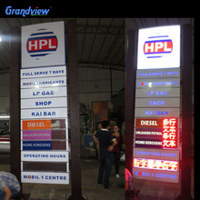 Acrylic Canopy Fascia gas station prices led display board
