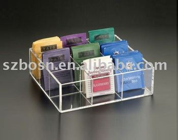 Acrylic Tea Caddy,Acrylic Tea Box,Acrylic Tea Bag Container