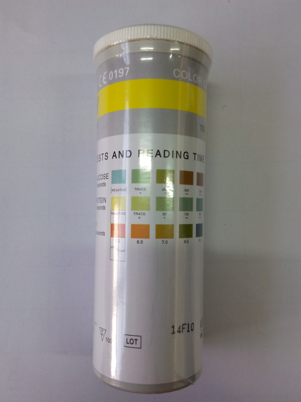 Glucose protein ph specific gravity 4sg urine test strips for Table 6 simulated urine protein test