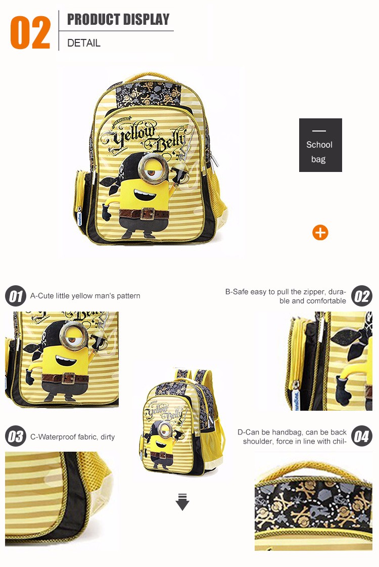 Competitive price Logo Customized school bags for children
