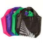 Promotional foldable nylon bag for shopping,folding nylon tote bag,foldable nylon bag