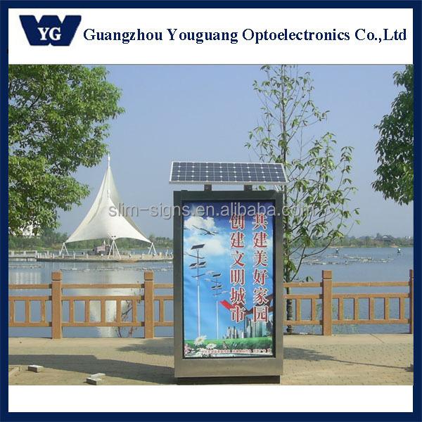 Outdoor Advertising Billboard Stand Solar Advertising Light Box ...