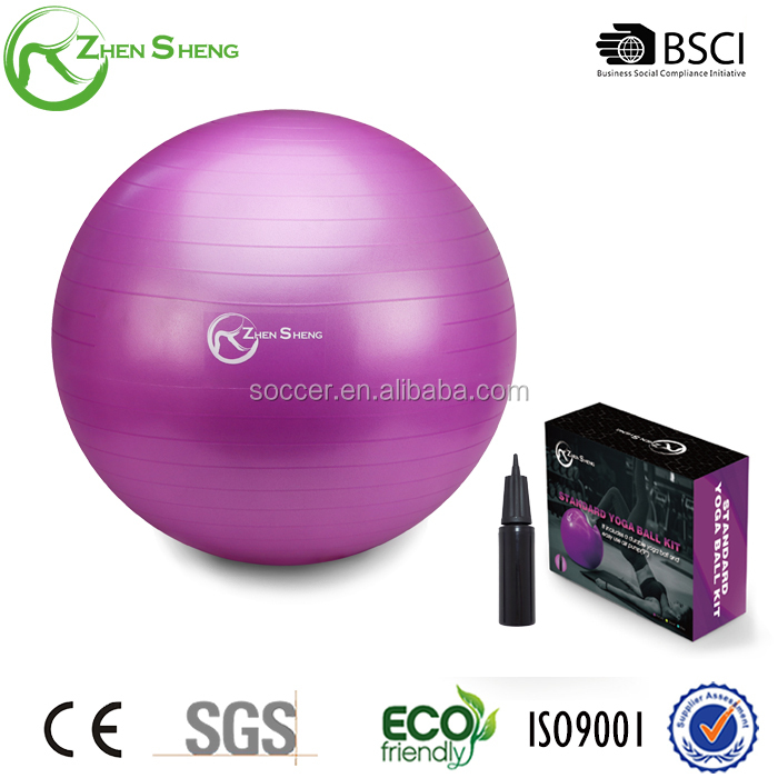 Zhensheng factory PVC white yoga exercise fitness gym ball