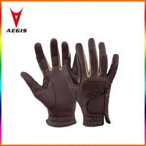 Horse Riding Gloves Ladies Fabric Gloves Leather Equestrian