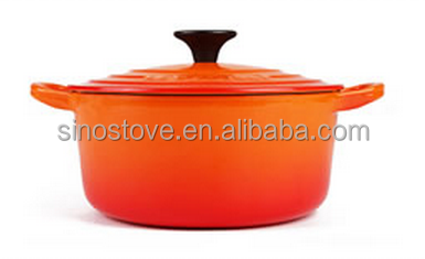 Enamel cast iron cookware for home cooking