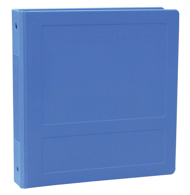 """Side Open 3 Ring Molded Binder Size: 2"""", Color: Medium Blue"""