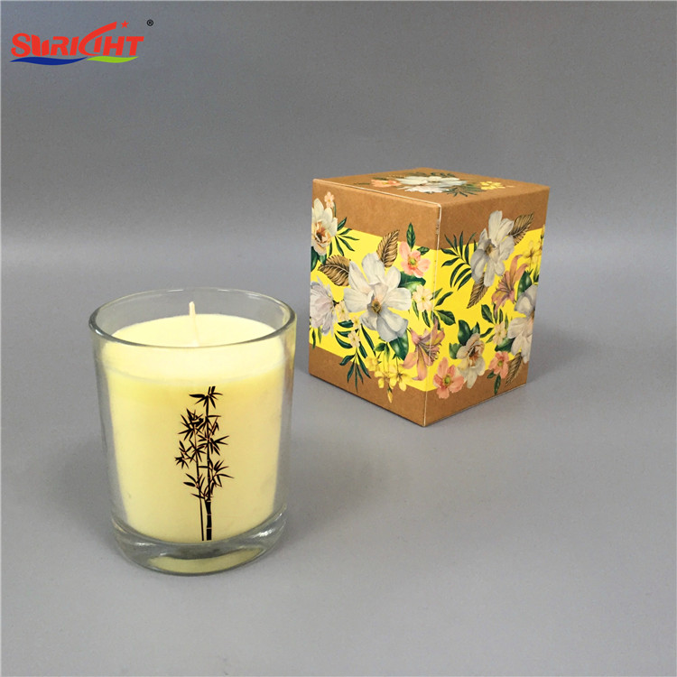 Hot Print Picture Old Fashion Glass 7 Day Candles