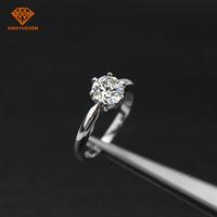 Classical 18K gold diamond ring moissanite diamond ring