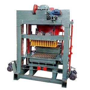fully automatic concrete block brick making machine qt4-25 new technology fly as brick small scale building block machine
