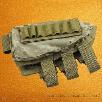 Tactical Buttstock Shotgun Rifle Stock Ammo Portable Pouch Shell