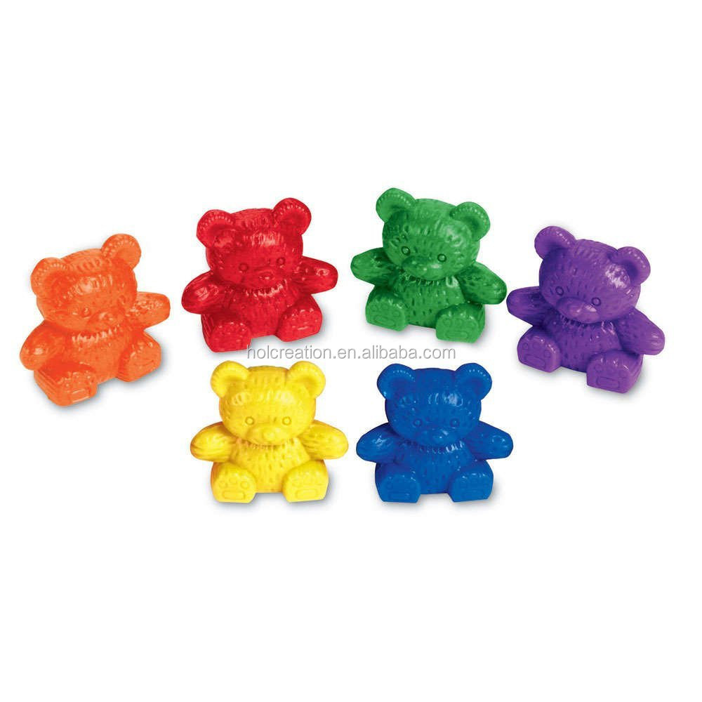 Assorted Sizes School Specialty Teddy Bear Manipulative Counters Set of 96