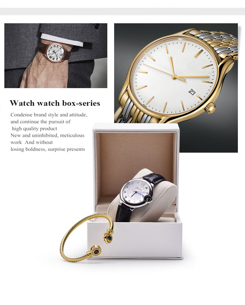 FANXI Factory New Launch Watch Packing Custom High-quality PU leather and Insert Velvet Watch Box Custom Logo