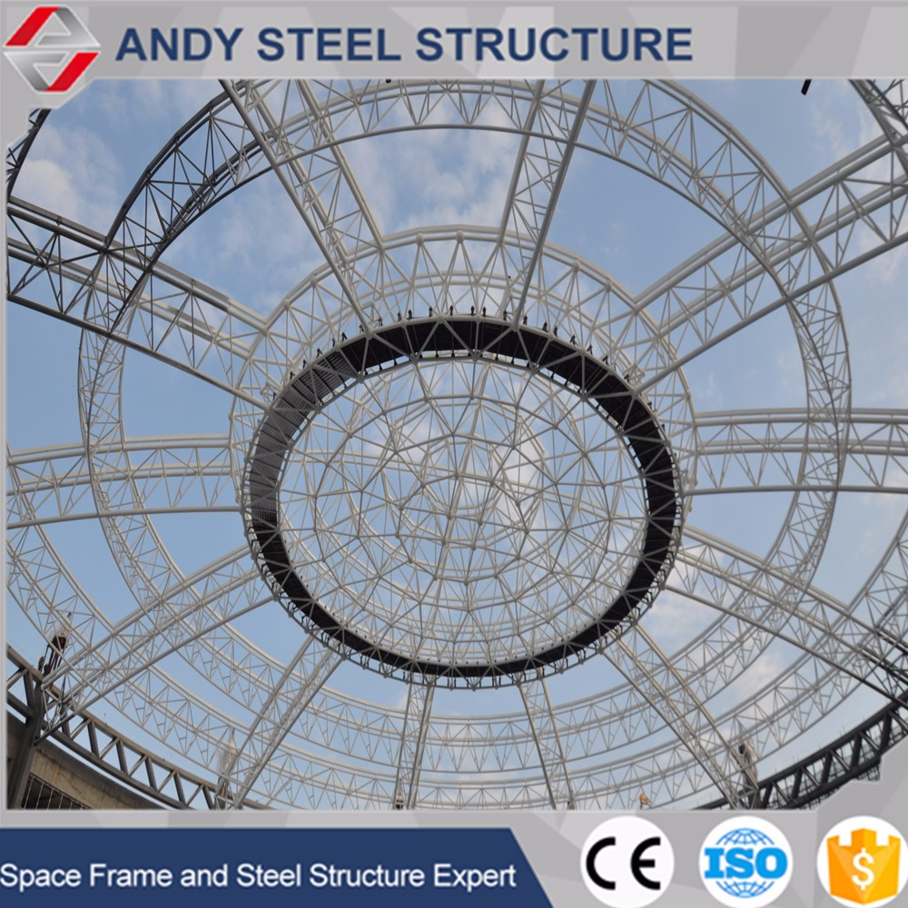 Prefabricated Resilient Dome Shaped Roof Stainless Steel