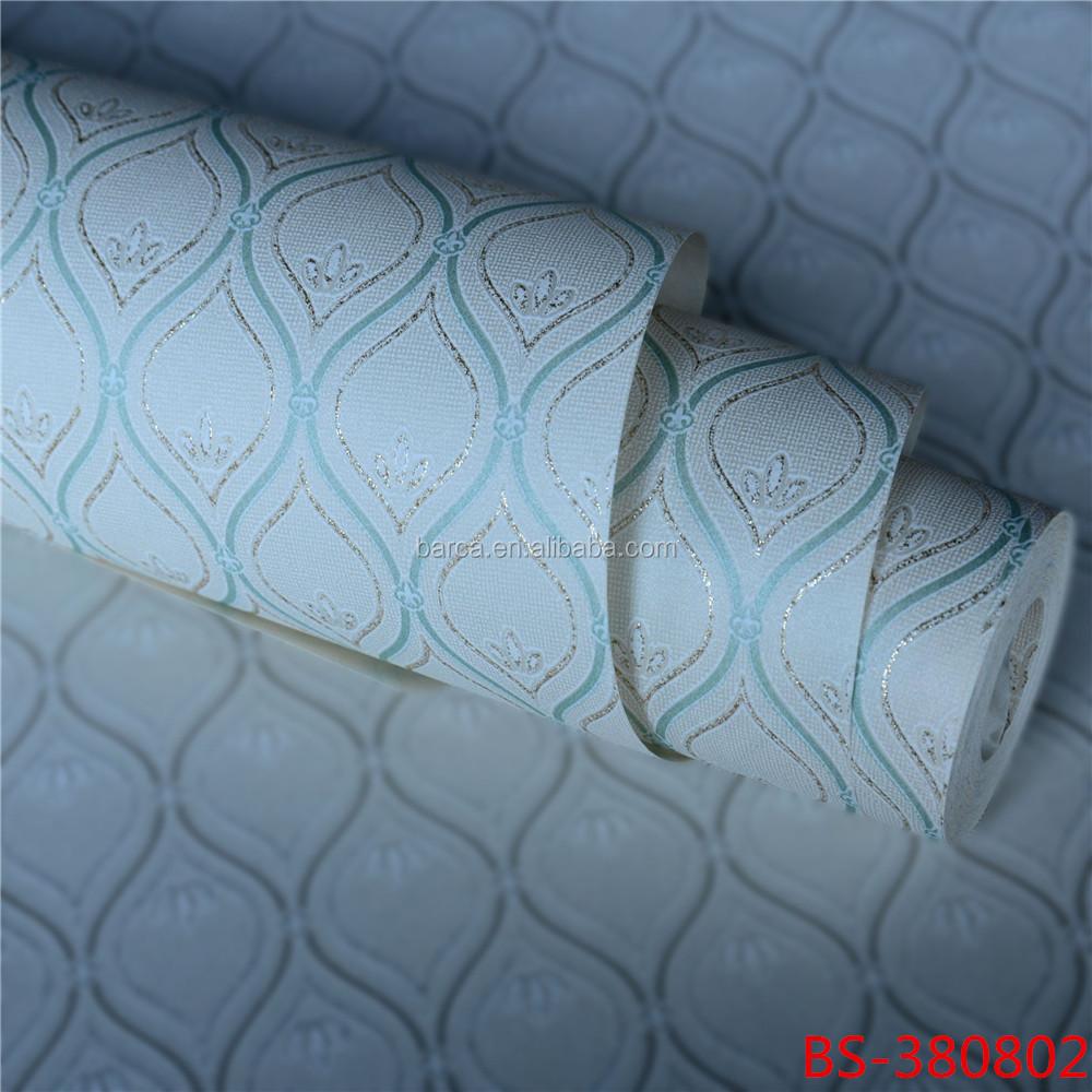 3D Carta Da Parati verniciabile crema verde carta da parati ...