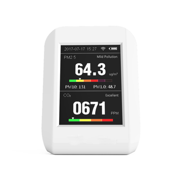 New Product CO2 Air Quality Monitor Indoor Wifi Connection For Pm2.5 Pm10 CO2