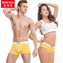Custom Couple Set Underwear Wholesale women underwear Men boxers with Cotton Couple Underwear for Valentine's Day Gifts