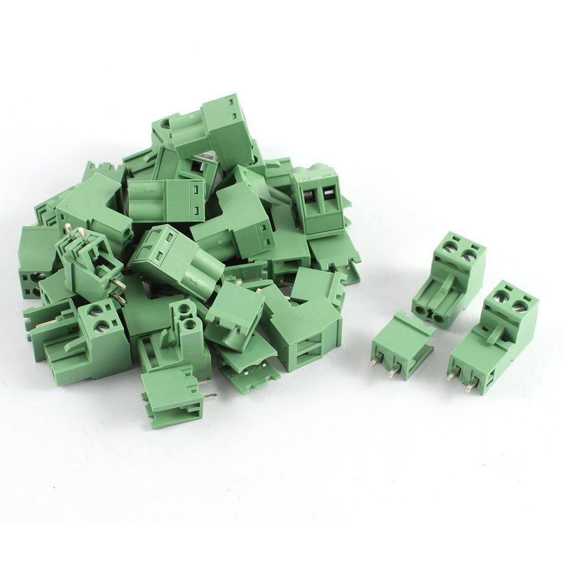 uxcell AWG 12-24 AC 300V 10A 2 Positions PCB Screw Terminal Block 20 Pcs