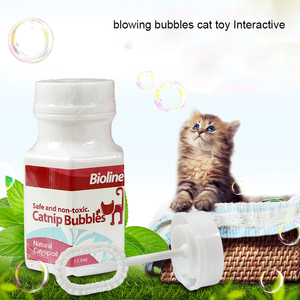Catnip Blowing Bubbles Sports Cat Toy Interactive
